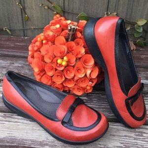 DANSKO Red & Black Leather Danielle Loafer, Sz 41